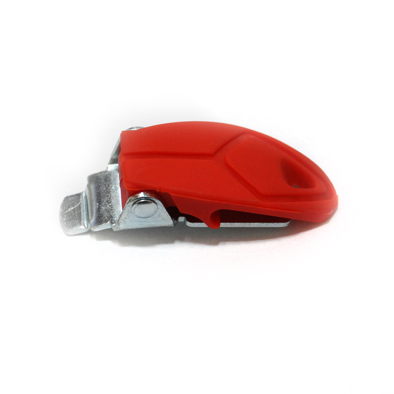 RED PLASTIC BUKLE FOR BOOTS MX7