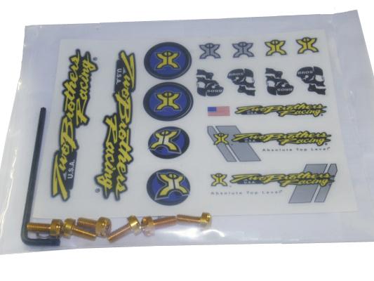 TBR Endcap Bolt Kit GOLD