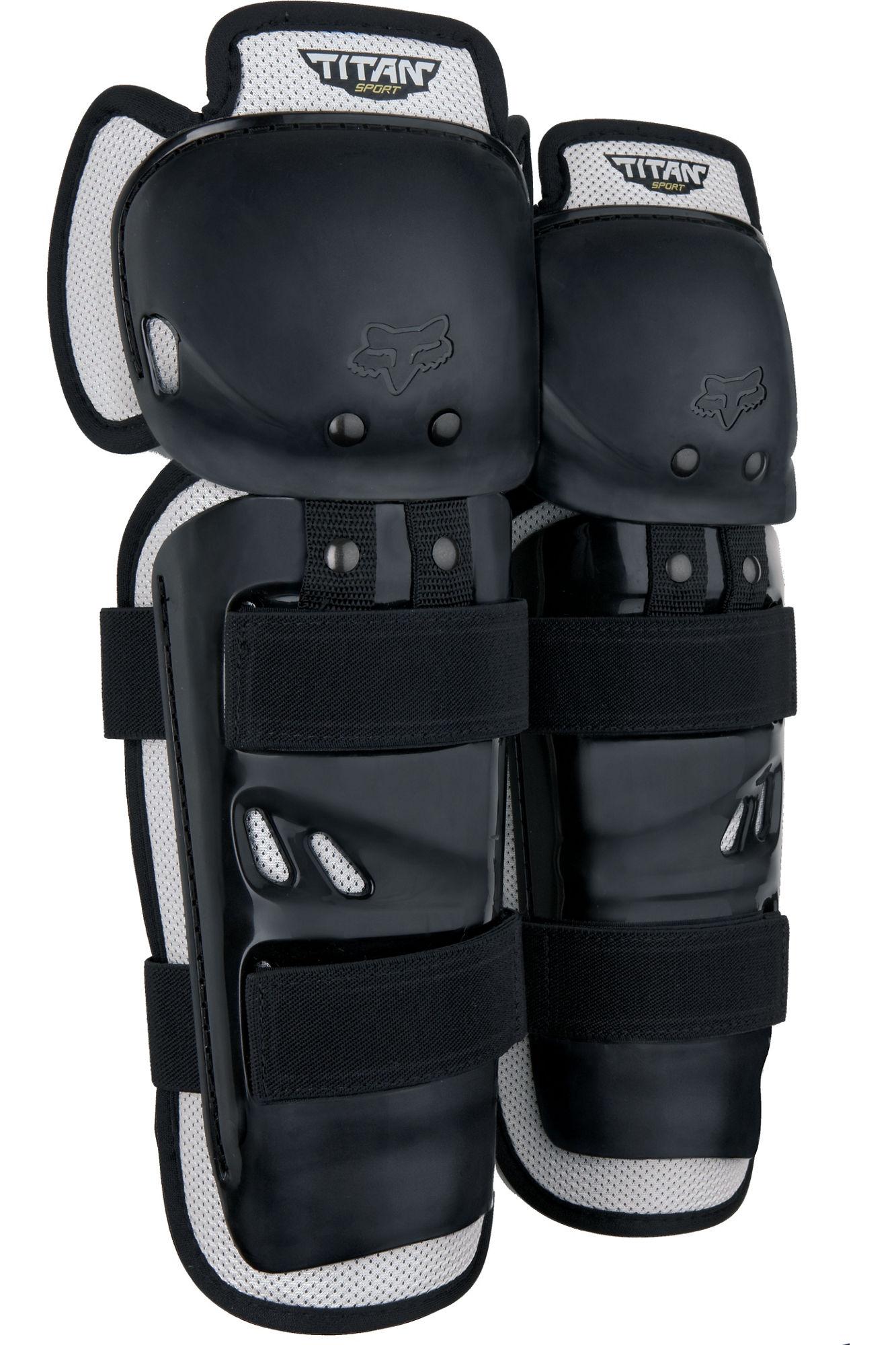 FOX Yth Titan Sport Knee/Shin Guards - OS, Black MX21