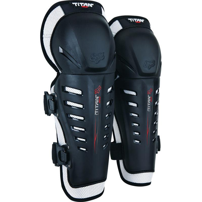 FOX Titan Race Knee/Shin Grd, Ce-OS-Black MX20