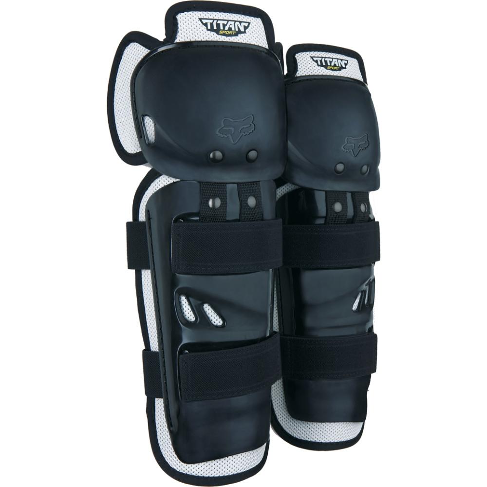 FOX Titan Sport Knee/Shin Guards, Ce - OS, Black MX22
