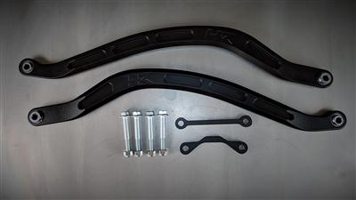 Polaris RZR RS1 Rear Lower MGC Radius Rods, Black Magic