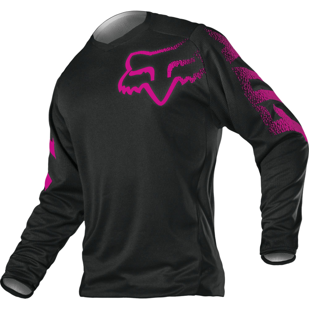 FOX Wmn Blackout Jersey - Black/Pink MX21