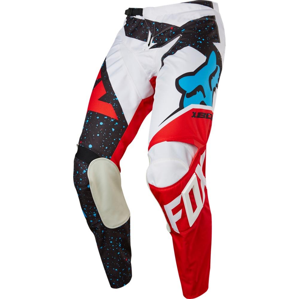 FOX kalhoty 180 Nirv - Red/White, MX17