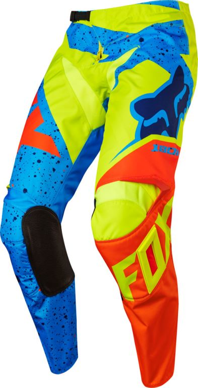FOX kalhoty 180 Nirv - Yellow/Blue, MX17