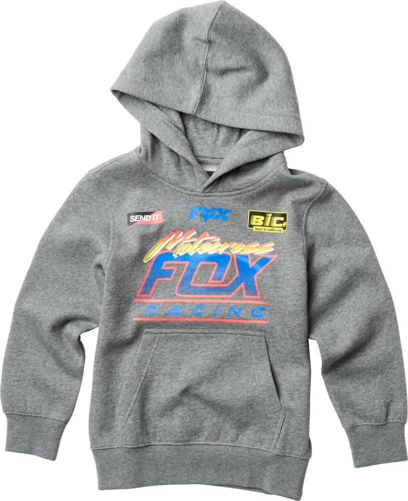 FOX Youth Jetskee Pullover, Heather Graphite, LFS18F