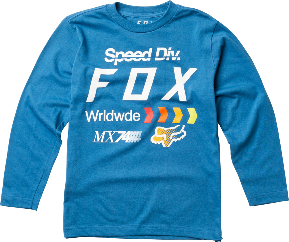 FOX Youth Murc Ls Tee, Dusty Blue, LFS18F
