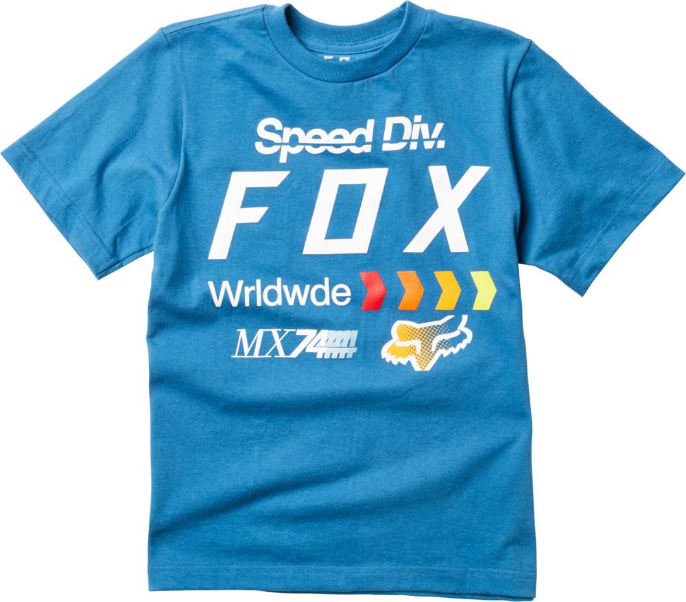 FOX Youth Murc Ss Tee, Dusty Blue, LFS18F