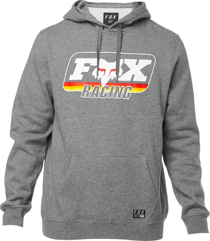 FOX Throwback Pullover Fleece, Heather Graphite, LFS18F