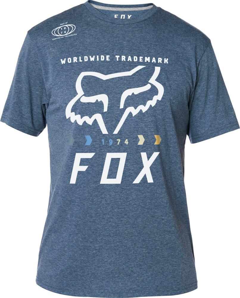 FOX Murc Fctry Ss Tech Tee, Heather Deep Cobalt, LFS18F