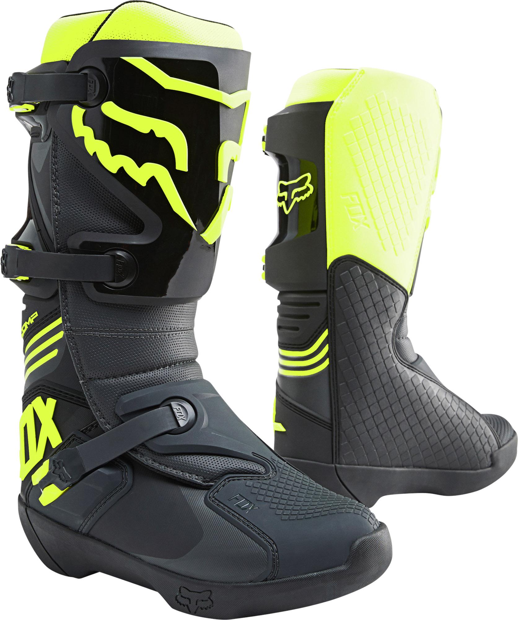 FOX Comp Boot - BLACK/YELLOW MX22