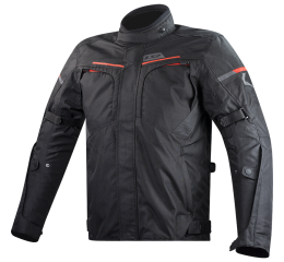 LS2 ENDURANCE MAN JACKET BLACK RED
