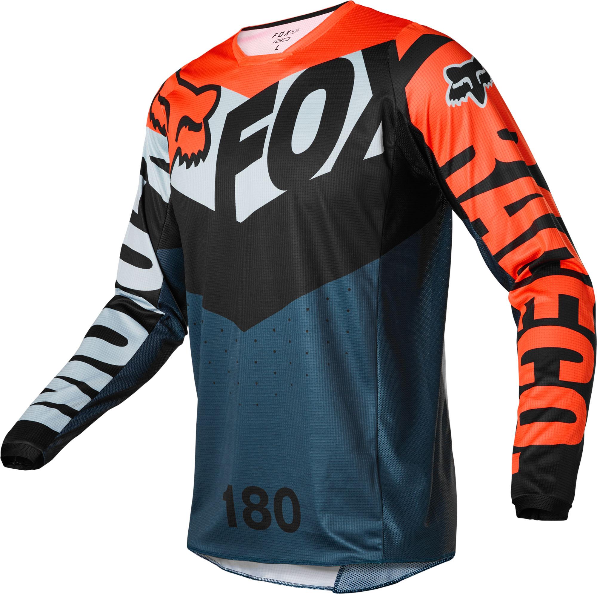 FOX 180 Trice Jersey - GREY/ORANGE MX22