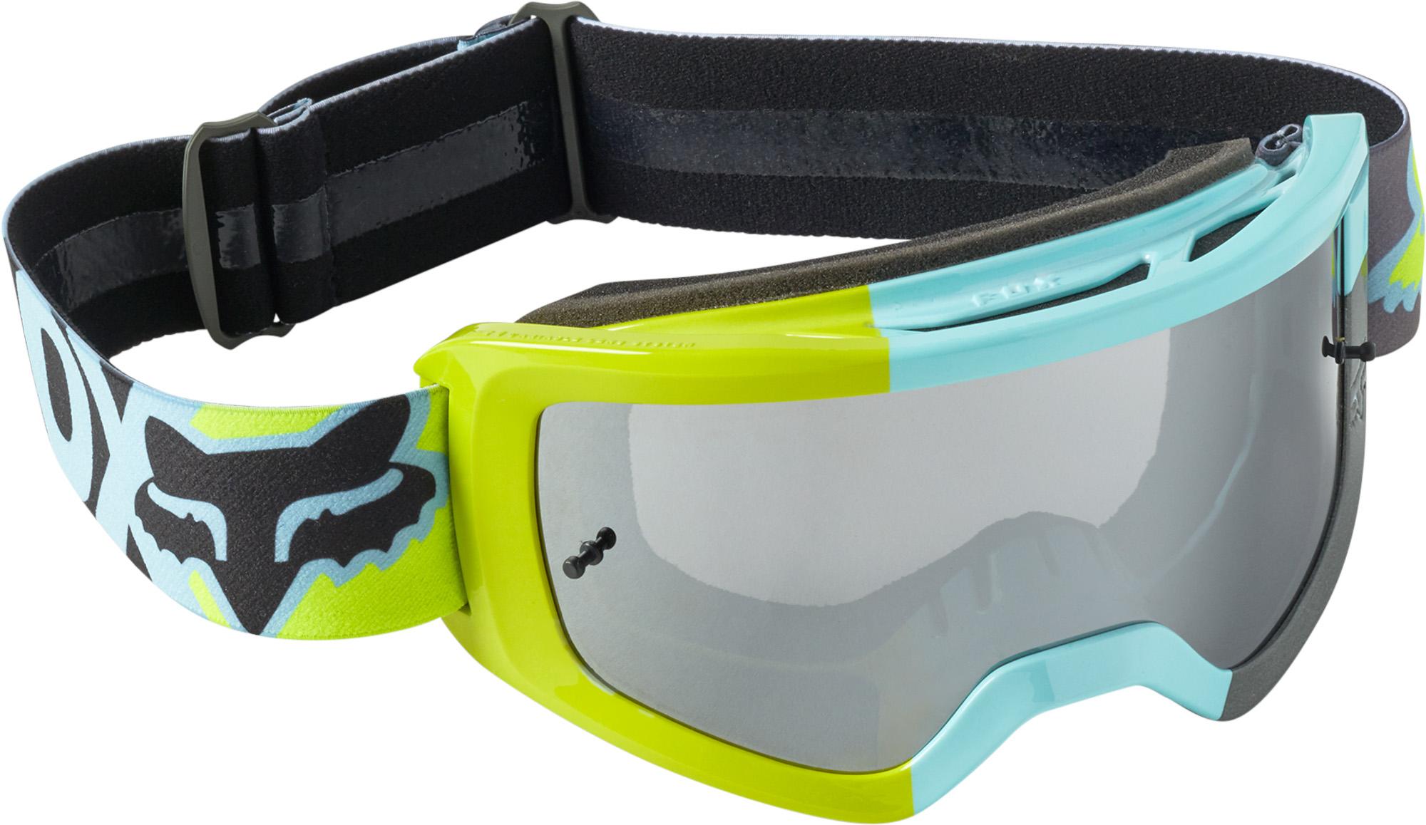 FOX Yth Main Trice Goggle - OS, Teal MX22