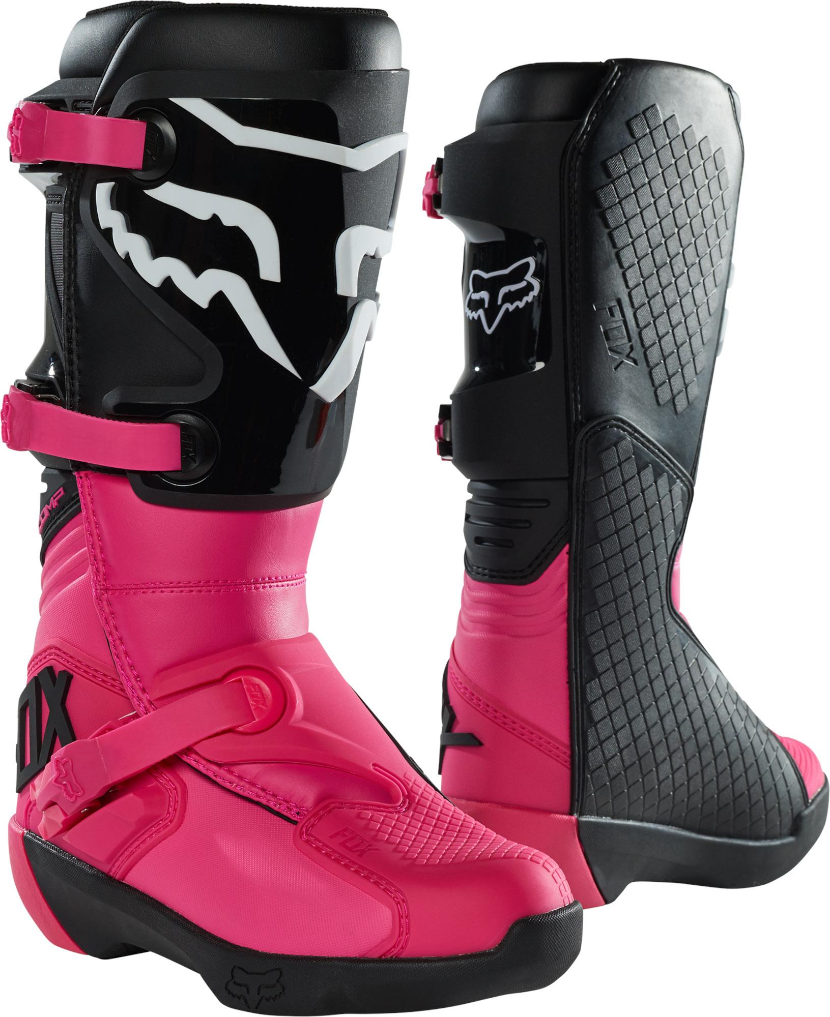 FOX Wmns Comp Boot - Buckle - BLACK/PINK MX22
