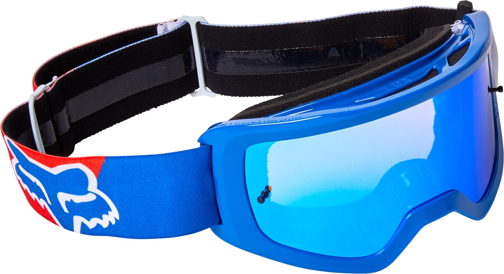 FOX Main Skew Goggle - Spark - OS, WHITE/RED/BLUE MX22