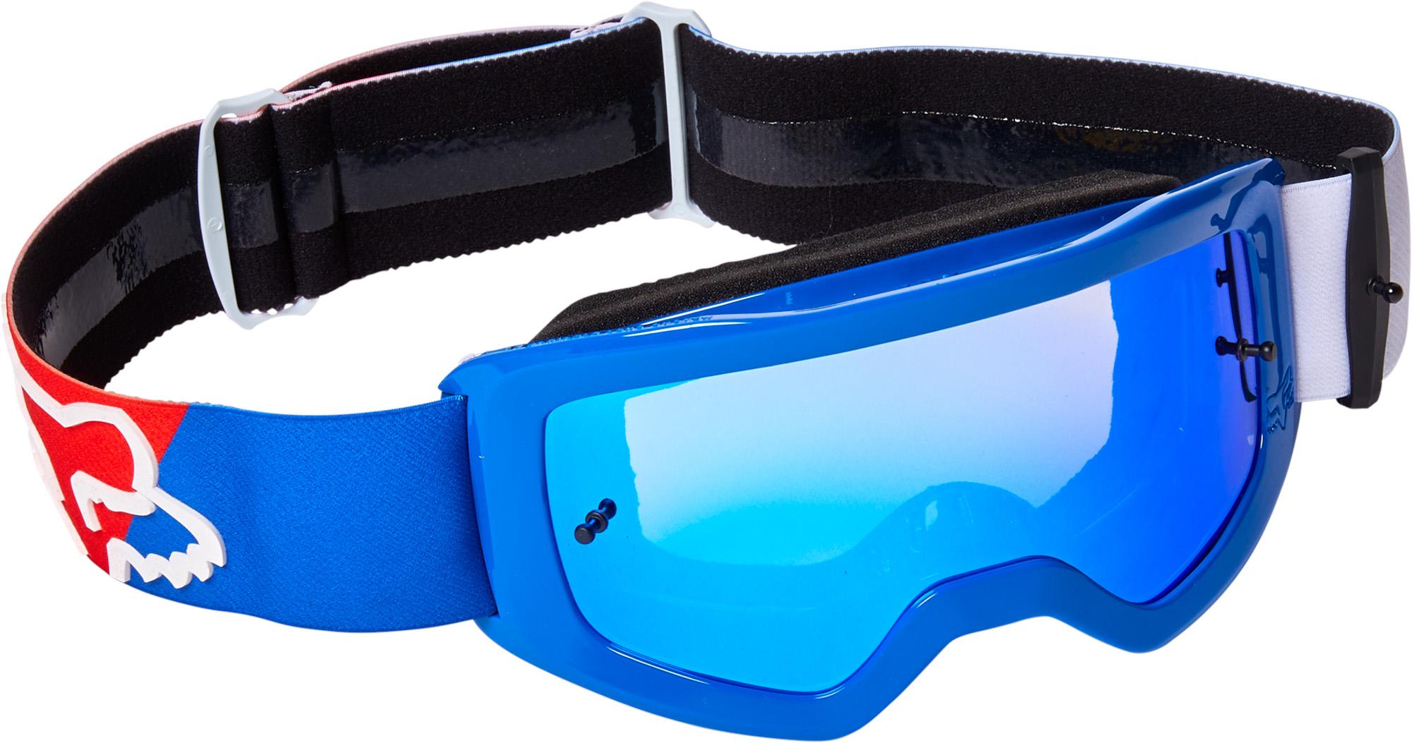 FOX Yth Main Skew Goggle Spk - OS, WHITE/RED/BLUE MX22