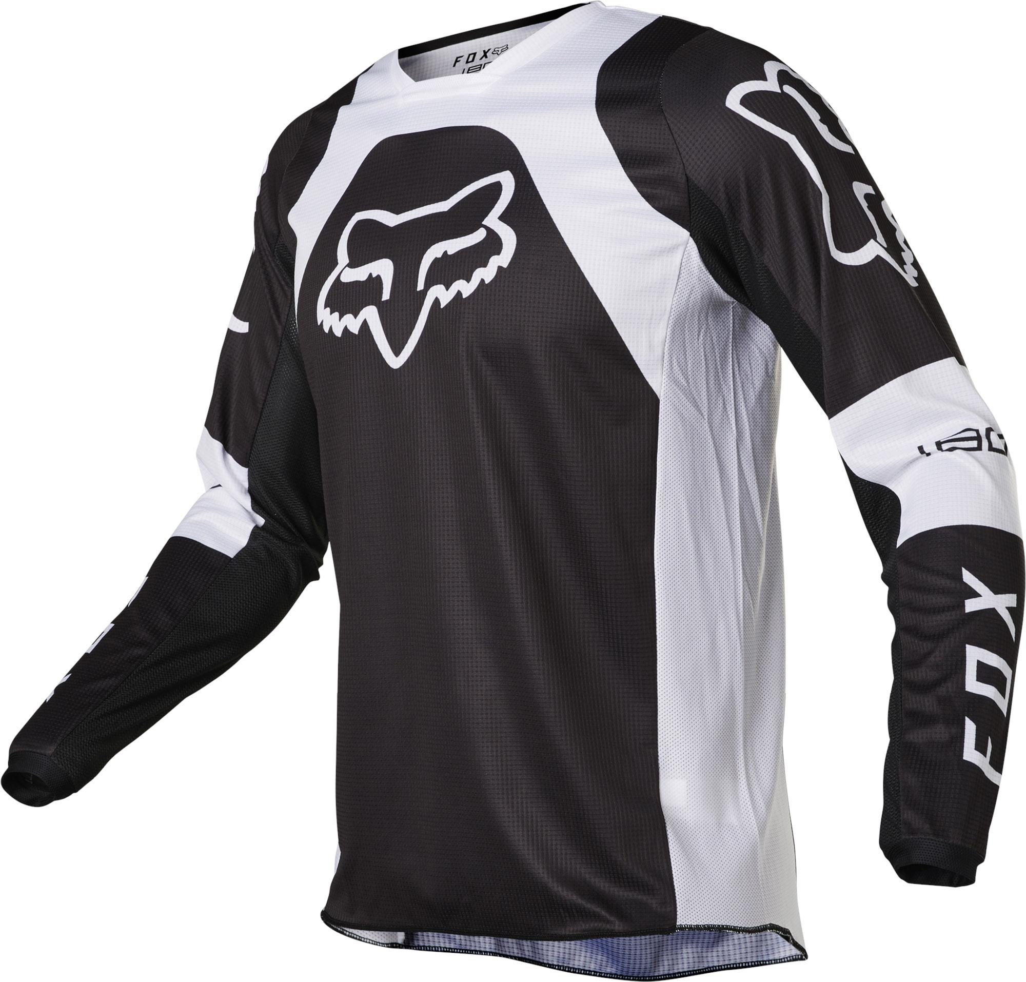 FOX 180 Lux Jersey - Black/white MX22