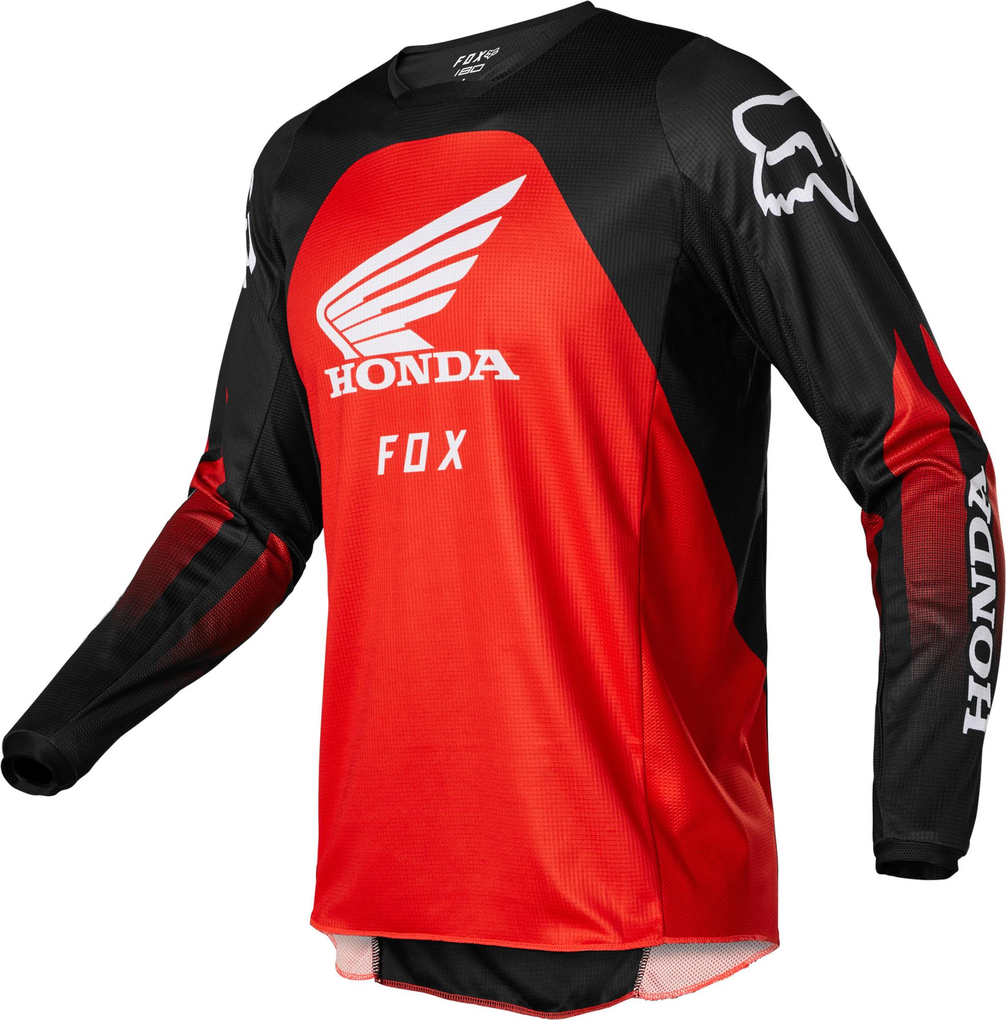 FOX 180 Honda Jersey - BLACK/RED MX22