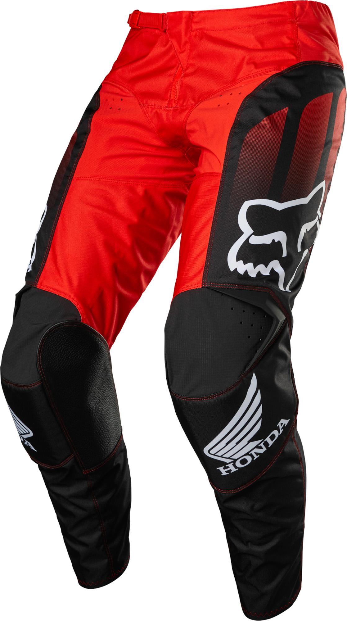 FOX 180 Honda Pant - BLACK/RED MX22