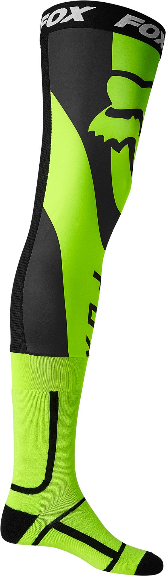 FOX Mirer Knee Brace Sock - L, Fluo Yellow MX22