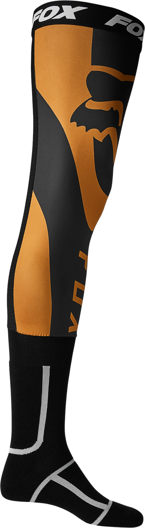 FOX Mirer Knee Brace Sock - BLACK/GOLD MX22
