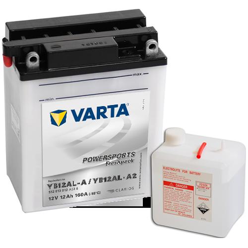 Varta 12V/12Ah moto (YB12AL-A / YB12AL-A2) Freshpack