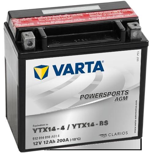 Varta 12V/12Ah - moto LF (YTX14-4/YTX14-BS)