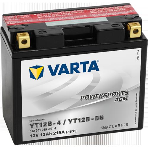 Varta 12V/12Ah-moto LF (YT12B-BS)