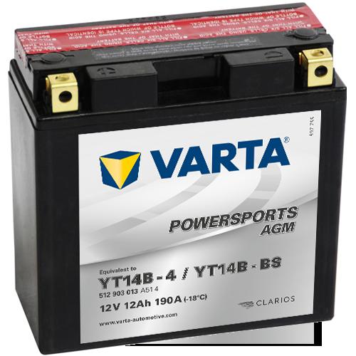 Varta 12V/12Ah - moto LF (YT14B-4/YT14B-BS)