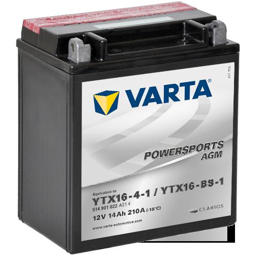 Varta 12V/14Ah moto LF, YTX16-4-1