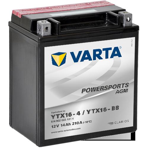 Varta 12V/14Ah moto, YTX16-BS