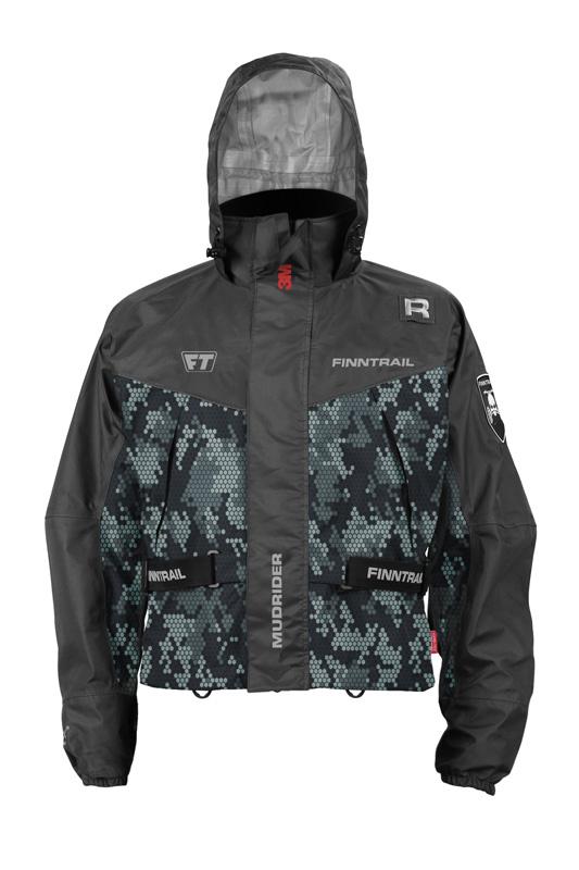 Finntrail Jacket Mudrider Camo Grey