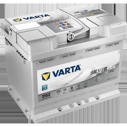 VARTA 12V/60Ah Silver dynamic AGM START STOP