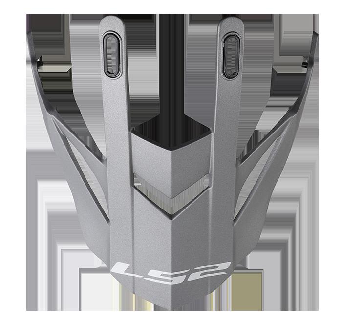 LS2 MX436 EVO PEAK MATT TITANIUM