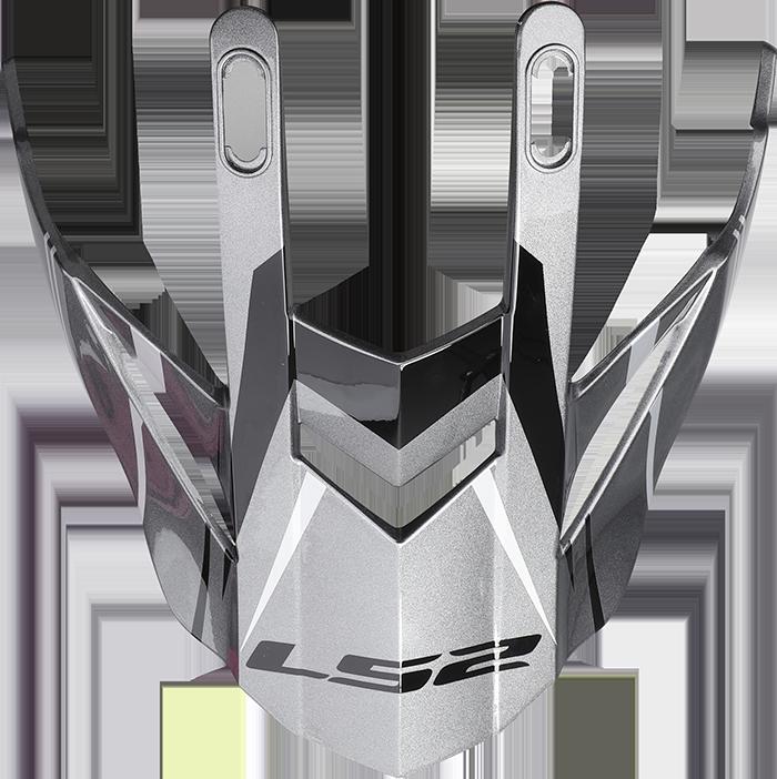 LS2 MX436 EVO PEAK KNIGHT TITANIUM WHITE