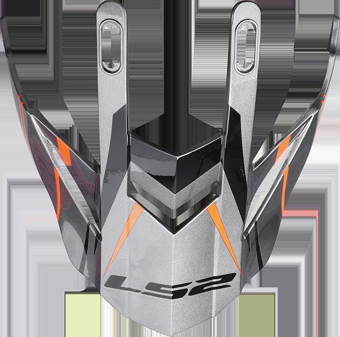 LS2 MX436 EVO PEAK KNIGHT TITANIUM ORANGE