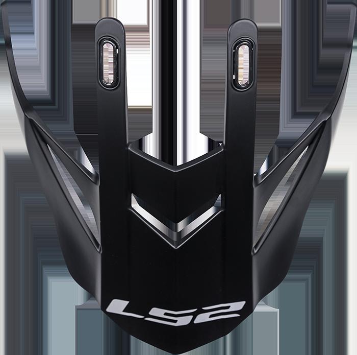 LS2 MX436 PEAK MATT BLACK