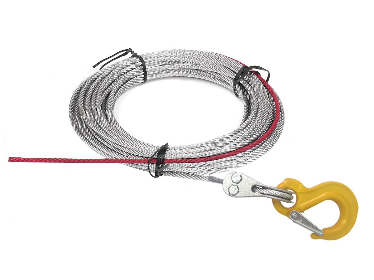 Wire rope with stopper & hook