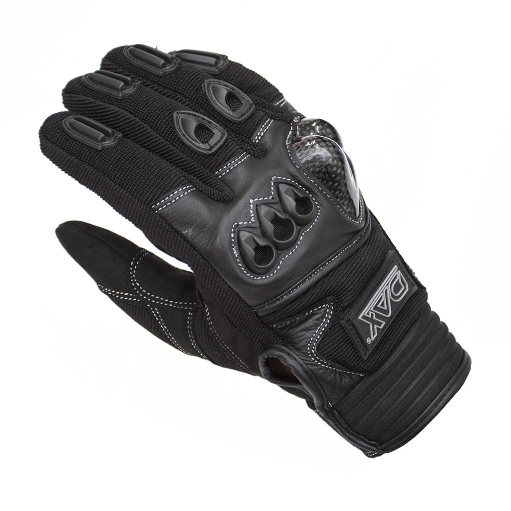 DAX ENDURO CARBON rukavice, z Amara kůže a textilu, s chráničem
