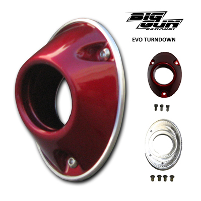 BIG GUN Turndown End Cap Assembly EVO MX / ATV - red