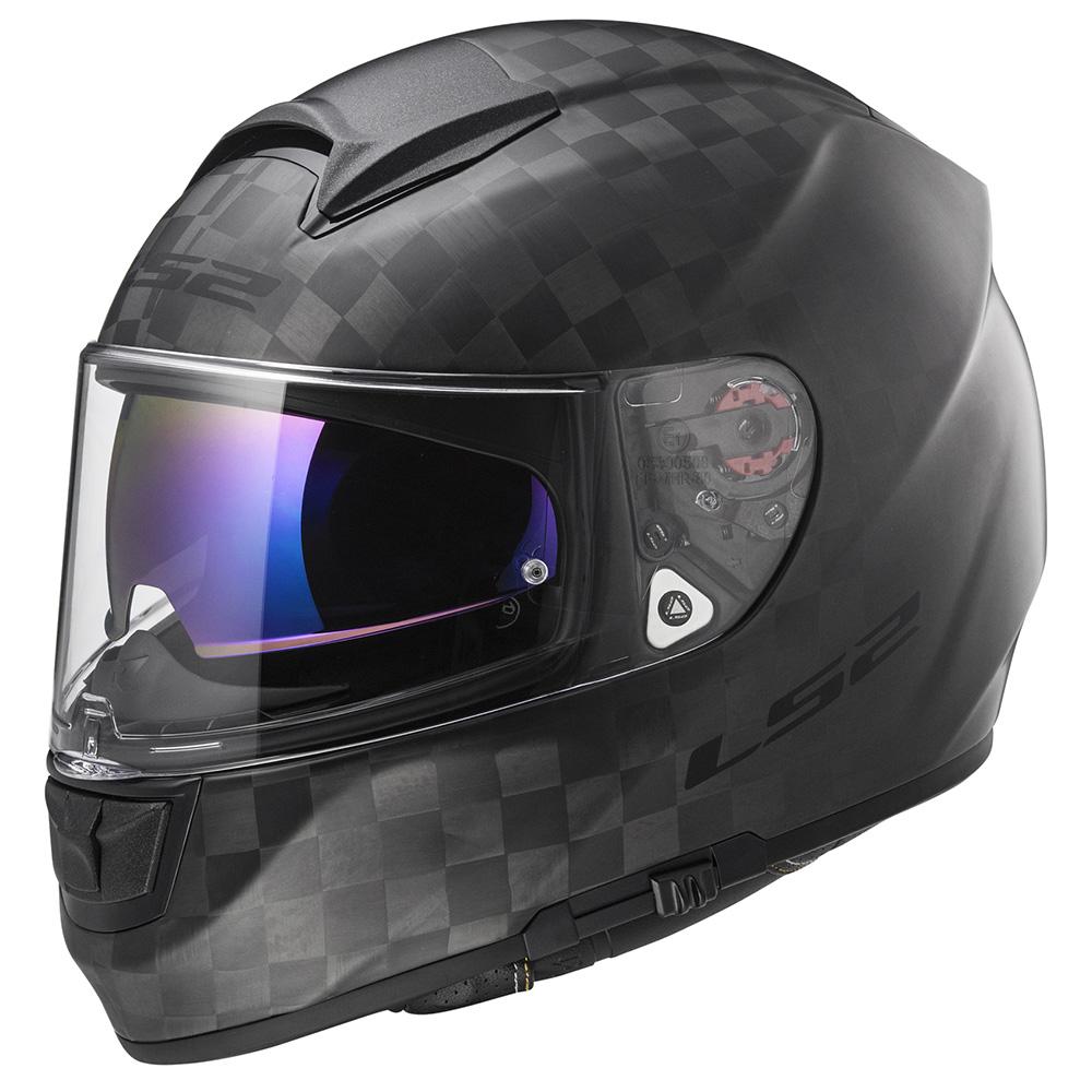 LS2 FF397 VECTOR SOLID Matt Black Carbon