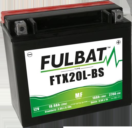 FULBAT baterie 12V/18Ah FTX20L-BS (YTX20L-BS) Linhai 300-800, TGB 325-1000, CAN-AM, YAMAHA