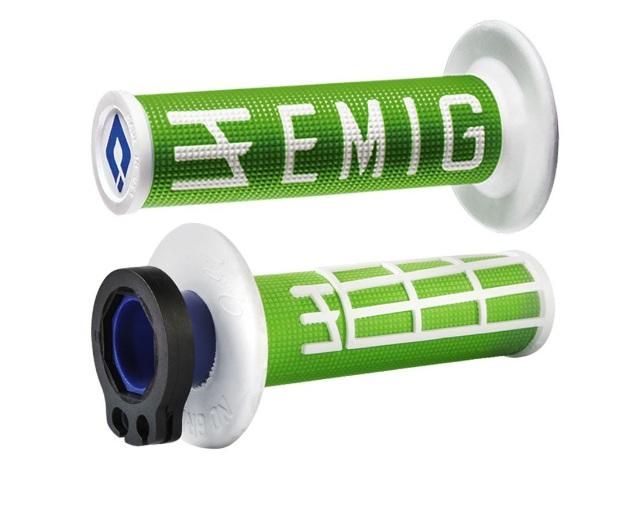 ODI GRIPS MX Lock-on v2 EMIG 4-Stroke Green/White