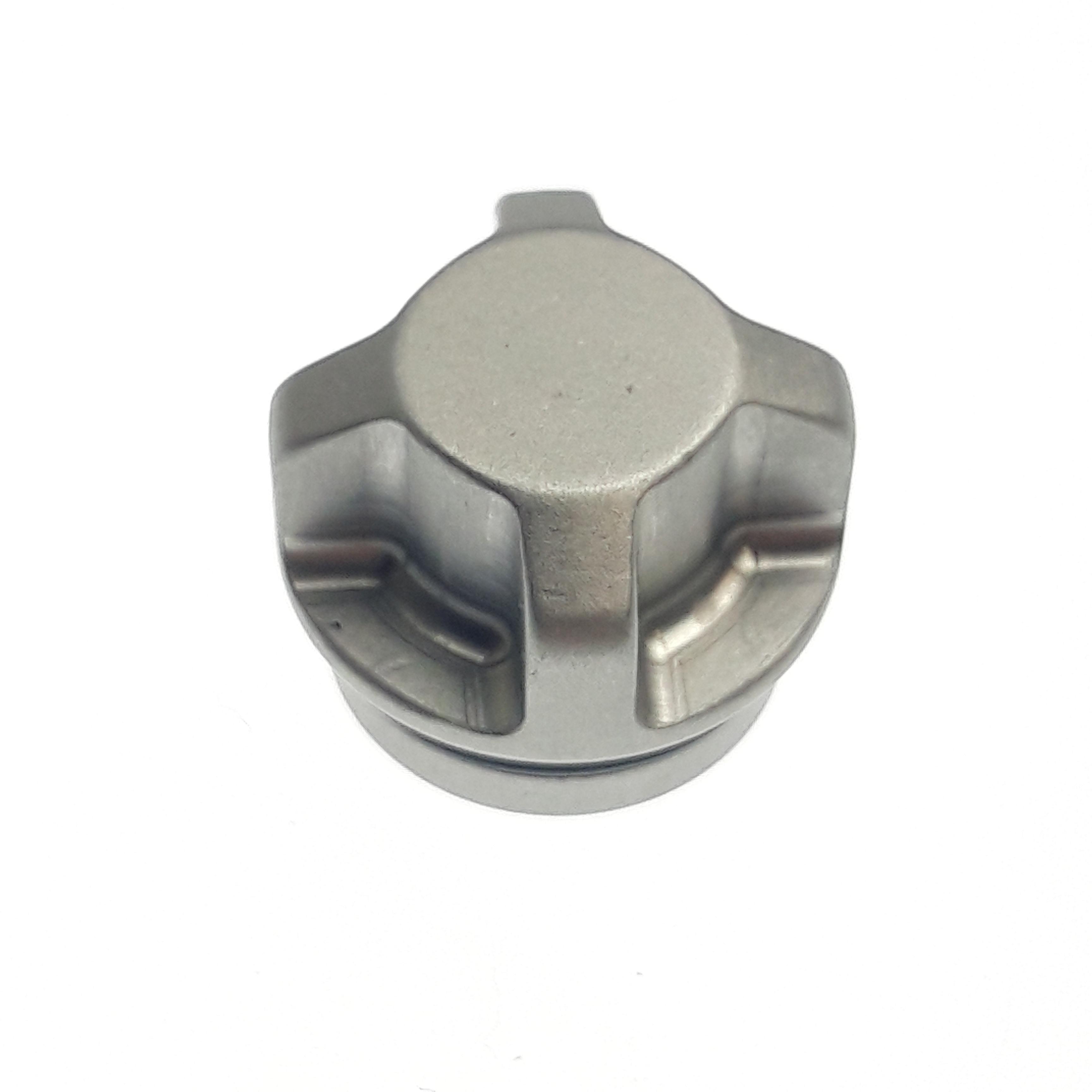 set: Air Valve Assembly: Schrader Topcap [.678 OD X 0.530 TLG] Aluminum, Clear Ano II