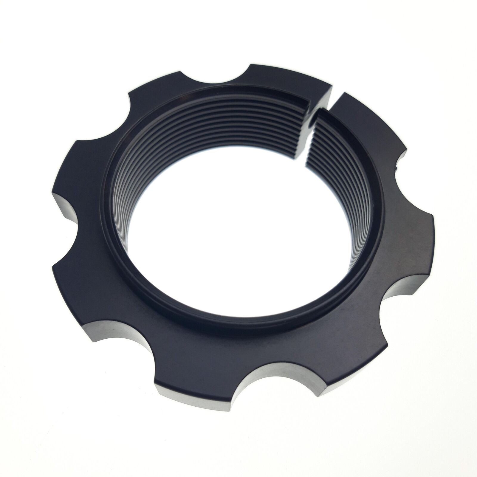 Spring Hardware: Preolad Ring (2.25 ID and 2.50 ID Spring) Clamp Design, AL 6061, Black