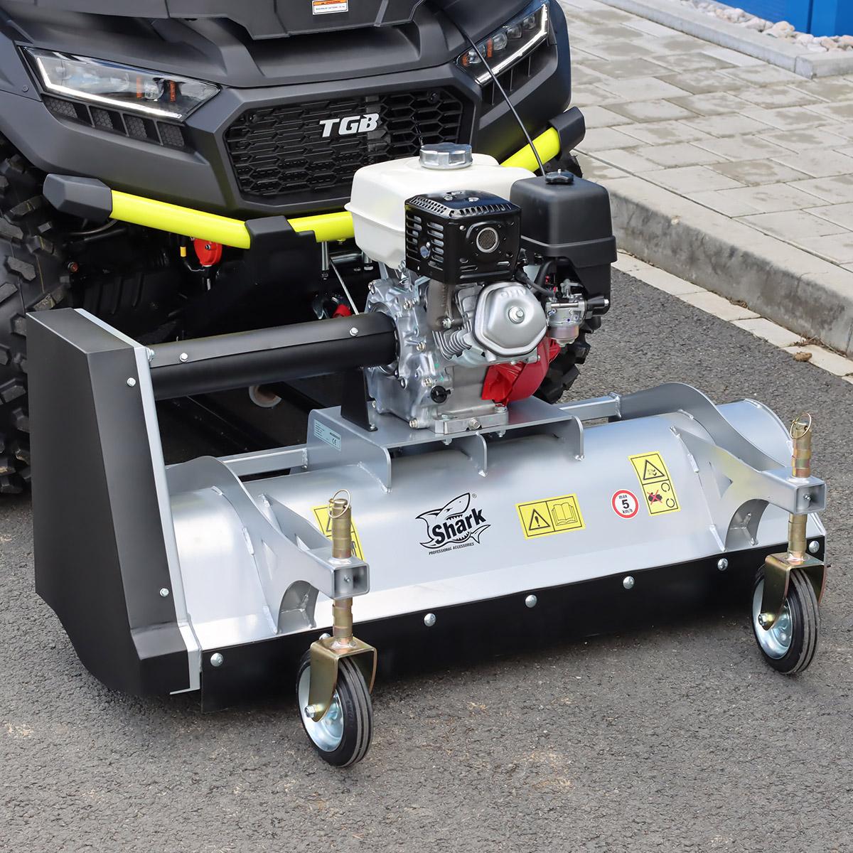 SHARK ATV čelní mulčovač 100cm s  motorem  HONDA GX 270, stříbrná barva