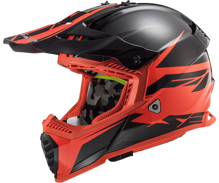 LS2 MX437 FAST EVO ROAR MATT BLACK RED