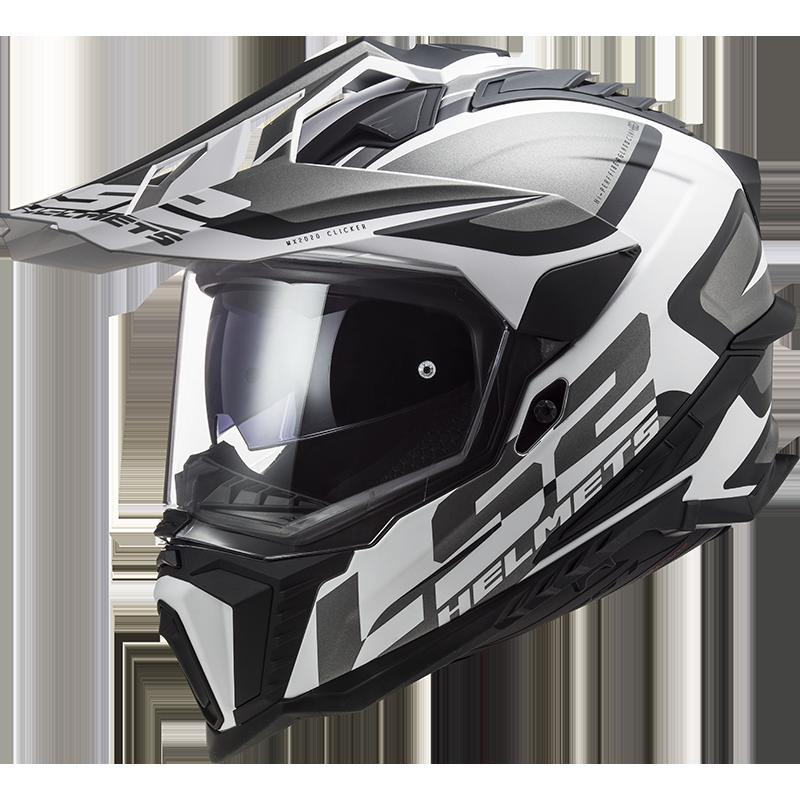 LS2 MX701 EXPLORER ALTER MATT BLACK WHITE