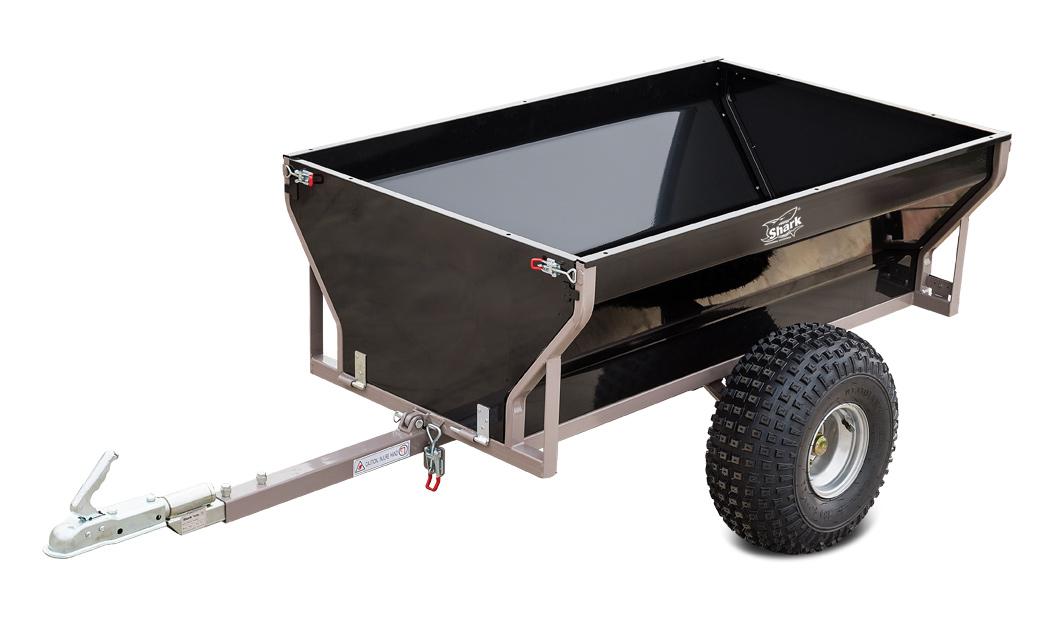 SHARK WOOD 550, vozík za čtyřkolku, černý